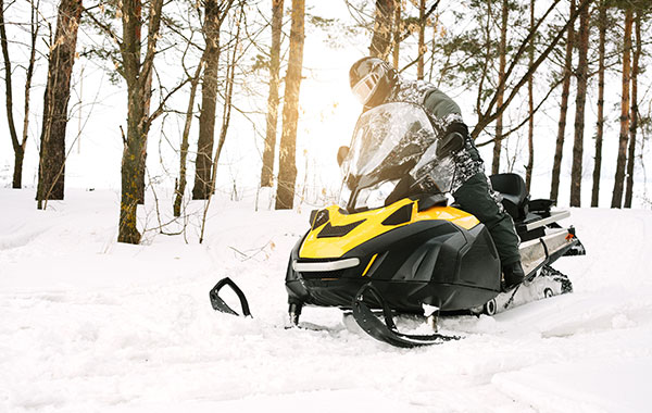 Snowmobiling in Avon